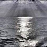 Rays Of Light Shimering Over The Waters Poster