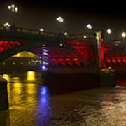 Southwark Bridge London Poster