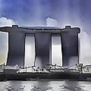 View Of The Towers Of The Marina Bay Sands In Singapore Poster