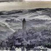 View Of Wallace Monument From The Heights Of The Stirling Castle Poster