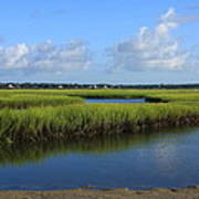 Wrightsville Beach Marsh Poster by Michael Weeks