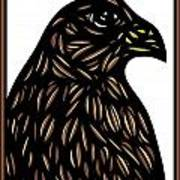 Labore Eagle Hawk Brown White Poster