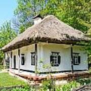 A Typical Ukrainian Antique House Poster