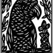 Tumminia Parrot Black And White Poster