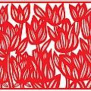 Sandvig Flowers Red White Poster