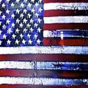 9-11 Flag Poster