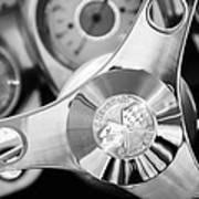 1960 Chevrolet Corvette Steering Wheel Emblem Poster by Jill Reger