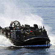 A Landing Craft Air Cushion Transits Poster