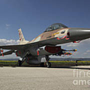 An F-16c Barak Of The Israeli Air Force Poster
