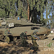 An Israel Defense Force Merkava Mark II Poster