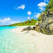 Beautiful Caribbean Beach Poster