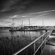 Bridge Of Lions St Augustine Florida Painted Bw Poster
