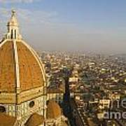 Brunelleschi's Dome At The Florence Cathedral  Poster