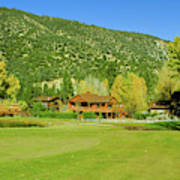 9-hole Golf Course In Autumn At Pine Poster