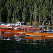 Lake Tahoe Wooden Boats Poster