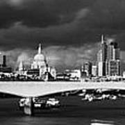 London  Skyline Waterloo  Bridge  Poster