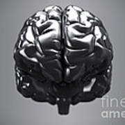 Metallic Brain Poster