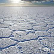 sunrise at Salar de Uyuni worlds largest salt lake Bolivia Poster