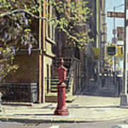 91st Street At Lexington Avenue Oil On Canvas Poster