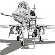 Ta-4j Skyhawk Poster