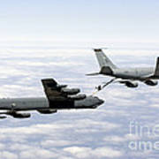 A B-52h Stratofortress Refuels Poster by Erik Roelofs