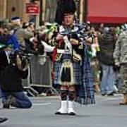 A Bagpiper Posing At The 2009 New York St. Patrick Day Parade Poster