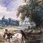 A Barge On The Stour Poster