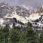 A Beautiful View Of Mount Ogden From Snowbasin 2/1 Pano Poster