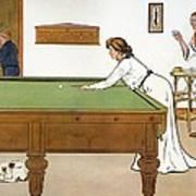 A Billiards Match Poster