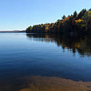 A Blue Autumn Afternoon - Algonquin Lake Tranquility Poster