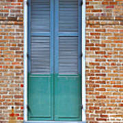 A Blue Door In New Orleans Poster