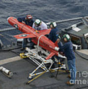 A Bqm-74e Drone Is Prepared For Launch Poster