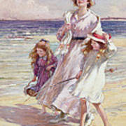 A Breezy Day At The Seaside Poster