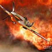 A British Supermarine Spitfire Bursting Poster