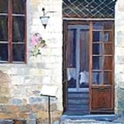 A Cafe In San Gimignano Tuscany Poster