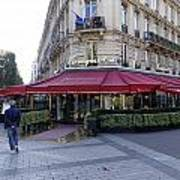 A Cafe On The Champs Elysees In Paris France Poster