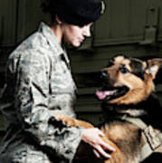 A Caucasian, Female Air Force Security Poster
