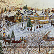 A Christmas Village Poster by Doug Kreuger