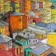 A Cinque Terre Village Poster