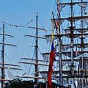 A Collection Of Masts In Baltimore Poster