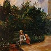 A Corner Of The Garden At The Hermitage Poster