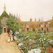 A Country Garden At Bray, Berkshire Poster