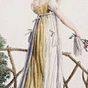 A Country Style Ladies Dress Poster