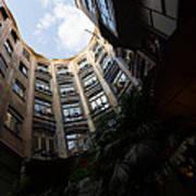 A Courtyard Curved Like A Hug - Antoni Gaudi's Casa Mila Barcelona Spain Poster