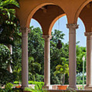 A Covered Walkway At The Biltmore Poster