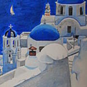 A Day In Santorini Poster