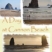 A Day On Cannon Beach Poster