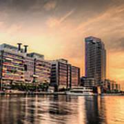 A Docklands Sunset Poster