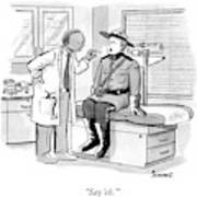 A Doctor Inspects A Royal Canadian Mounted Poster