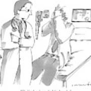 A Doctor Is Talking To A Patient Seated Poster